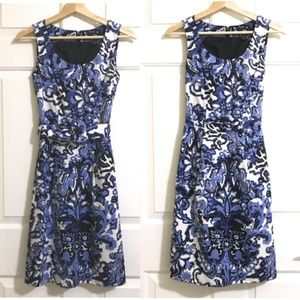 H&M sleeveless Floral Print Dress with Belt
